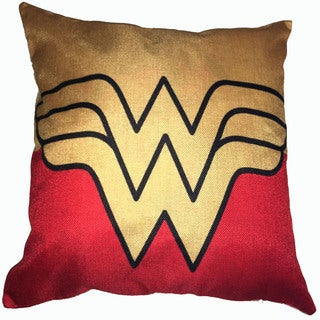 Lillowz Wonder Woman Symbol Canvas Throw Pillow 17-inch