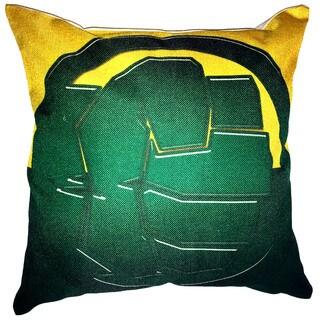 Lillowz Hulk Symbol Canvas Throw Pillow 17-inch