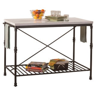 The Curated Nomad Harriet Textured Black Finish Metal Kitchen Cart