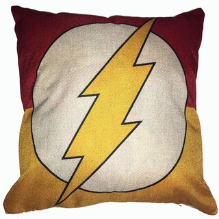 Lillowz Flash Symbol Canvas Throw Pillow 17-inch