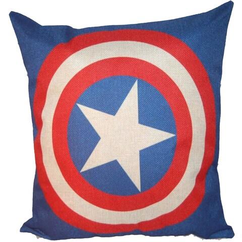 Lillowz Captain America Symbol Canvas Throw Pillow 17-inch