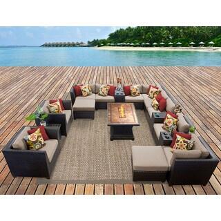 Barbados 17 Piece Outdoor Wicker Patio Furniture Set 17c