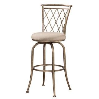 Hillsdale Furniture Berkley Champagne Finish Indoor/Outdoor Swivel Bar Stool