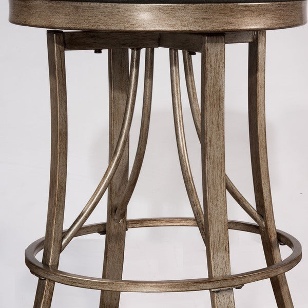 Good Hillsdale Furniture Bishop Champagne Indoor/ Outdoor Backless Swivel  Counter Stool