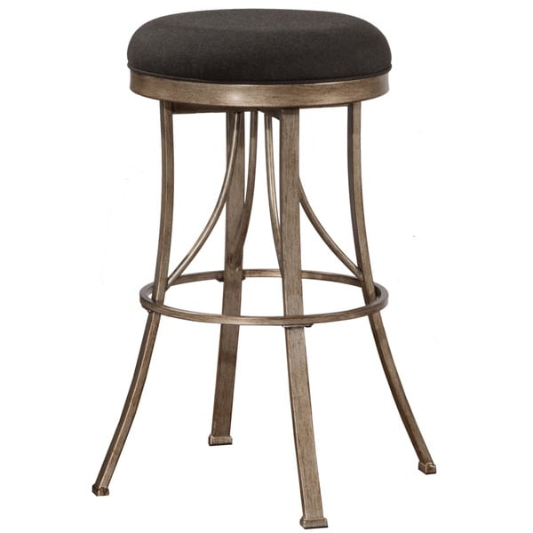 Marvelous Hillsdale Furniture Bishop Champagne Indoor/ Outdoor Backless Swivel  Counter Stool