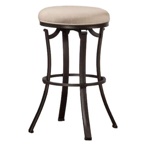Hillsdale Furniture Bryce Backless MIdnight Mocha Swivel Counter Stool