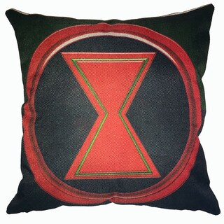Lillowz Black Widow Symbol Canvas Throw Pillow 17-inch