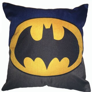 Lillowz Batman Symbol Canvas Throw Pillow 17-inch