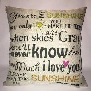 Lillowz Sunshine Canvas Throw Pillow 17-inch