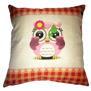 Lillowz Baby Owl Canvas Throw Pillow 17-inch