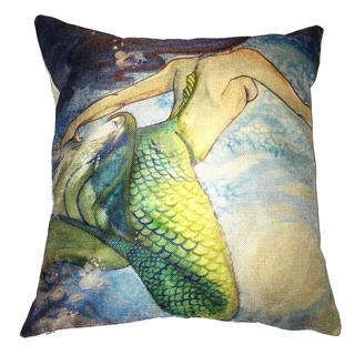 Lillowz Mermaid Canvas Throw Pillow 17-inch
