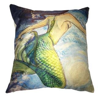 Lillowz Mermaid Canvas Throw Pillow 17-inch