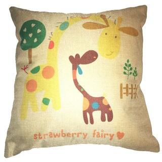 Lillowz Giraffe Nursery Canvas Throw Pillow 17-inch