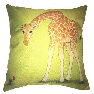 Lillowz Giraffe Canvas Throw Pillow 17-inch