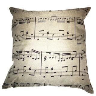 Lillowz Sheet Music Canvas Throw Pillow 17-inch