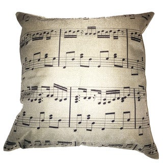 Lillowz Sheet Music Canvas Throw Pillow 17-inch