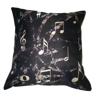 Lillowz Music Notes Canvas Throw Pillow 17-inch