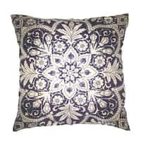 Lillowz Print Damask Jaquard Canvas Throw Pillow 17-inch