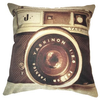 Lillowz Vintage Camera Yashino Canvas Throw Pillow 17-inch