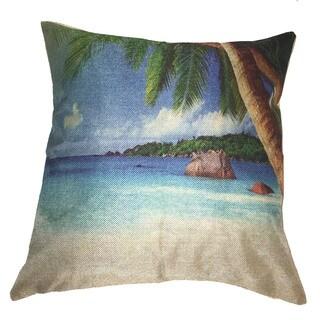 Lillowz Beach Scene Canvas Throw Pillow 17-inch