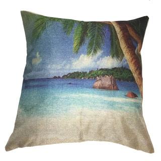 Lillowz Beach Scene Canvas Throw Pillow 17-inch|https://ak1.ostkcdn.com/images/products/15268916/P21739565.jpg?impolicy=medium