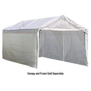 White 10 x 20 ft. Canopy Enclosure Kit