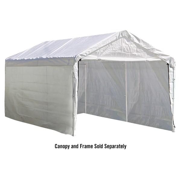 White 10 x 20 ft. Canopy Enclosure Kit