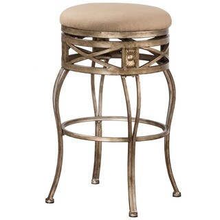 Hillsdale Furniture Callen Indoor/Outdoor Swivel Bar Stool with Brushed Bronze Pewter