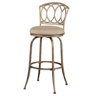 Hillsdale Furniture Corrina Indoor/Outdoor Swivel Bar Stool in Champagne Finish