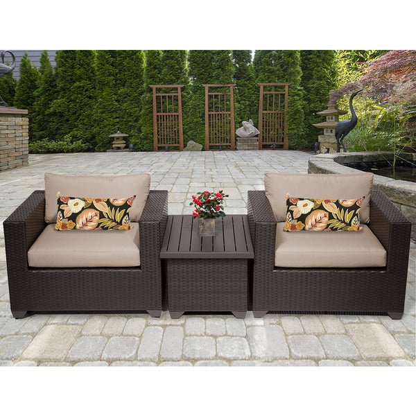 Belle 3 Piece Outdoor Wicker Patio Furniture Set 03a - Belle 3 Piece Outdoor Wicker Patio Furniture Set 03a - Free