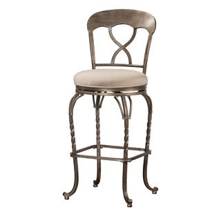 Hillsdale Furniture Glendover Brown Metal and Fabric Indoor/Outdoor Swivel Counter Stool