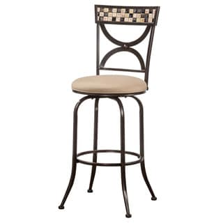 Hillsdale Furniture Healy Indoor/ Outdoor Swivel Bar Stool in Antique Black Finish