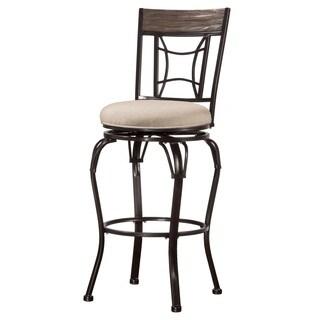 Hillsdale Furniture Kent Indoor/ Outdoor Swivel Bar Stool in Black Finish