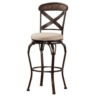 Hillsdale Furniture Kingsley Indoor/Outdoor Swivel Counter Stool in Rubbed Bronze Finish