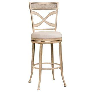 Hillsdale Furniture Wayborn Indoor/Outdoor Swivel Counter Stool in Rubbed Bronze Finish