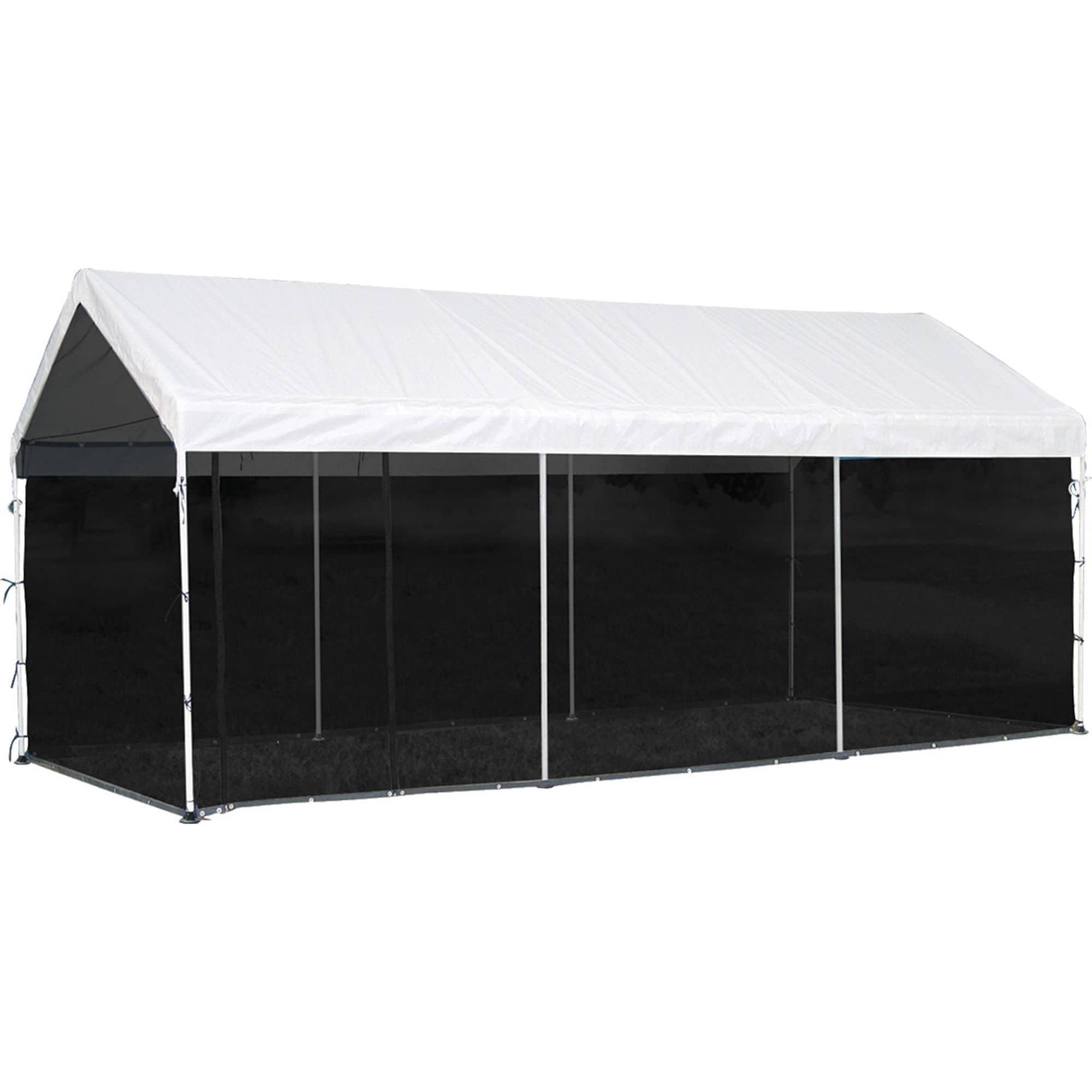 ShelterLogic 10 x 20ft. Black Screen House Enclosure Kit ...