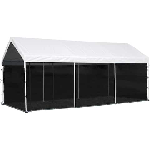 ShelterLogic 10 x 20ft. Black Screen House Enclosure Kit