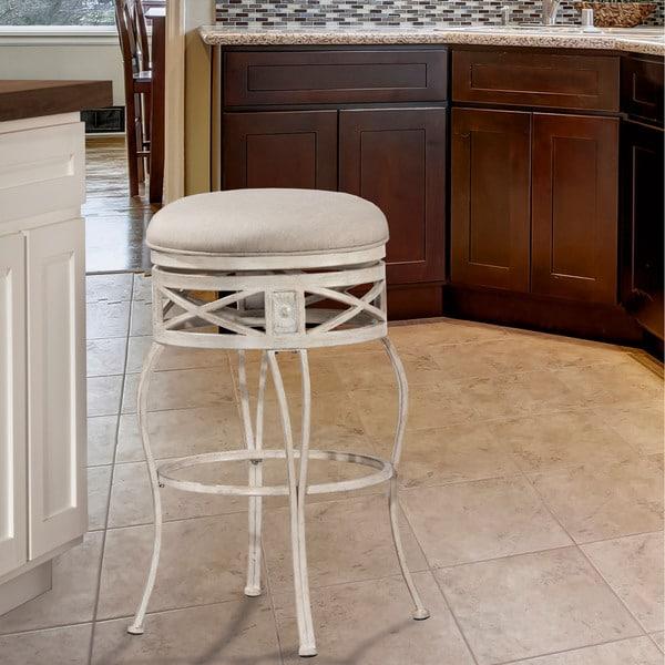 Hillsdale Furniture Callen Indoor// Outdoor Swivel Counter Stool In Brushed