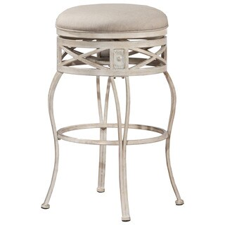 Hillsdale Furniture Callen Indoor/Outdoor Swivel Counter Stool in Whitewash Finish