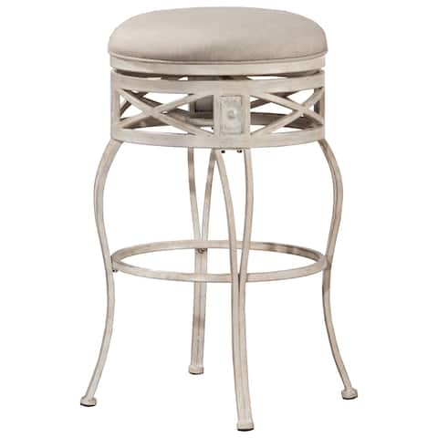 Hillsdale Furniture Callen Indoor/Outdoor Swivel Bar Stool in Whitewash Finish