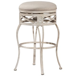 Hillsdale Furniture Callen Indoor/Outdoor Swivel Bar Stool in Whitewash Finish
