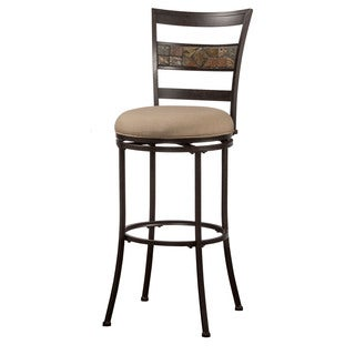 Hillsdale Furniture Henning Indoor/Outdoor Swivel Counter Stool in Midnight Mocha
