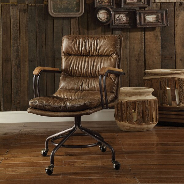 Shop Acme Furniture Hedia Top Grain Leather Office Chair