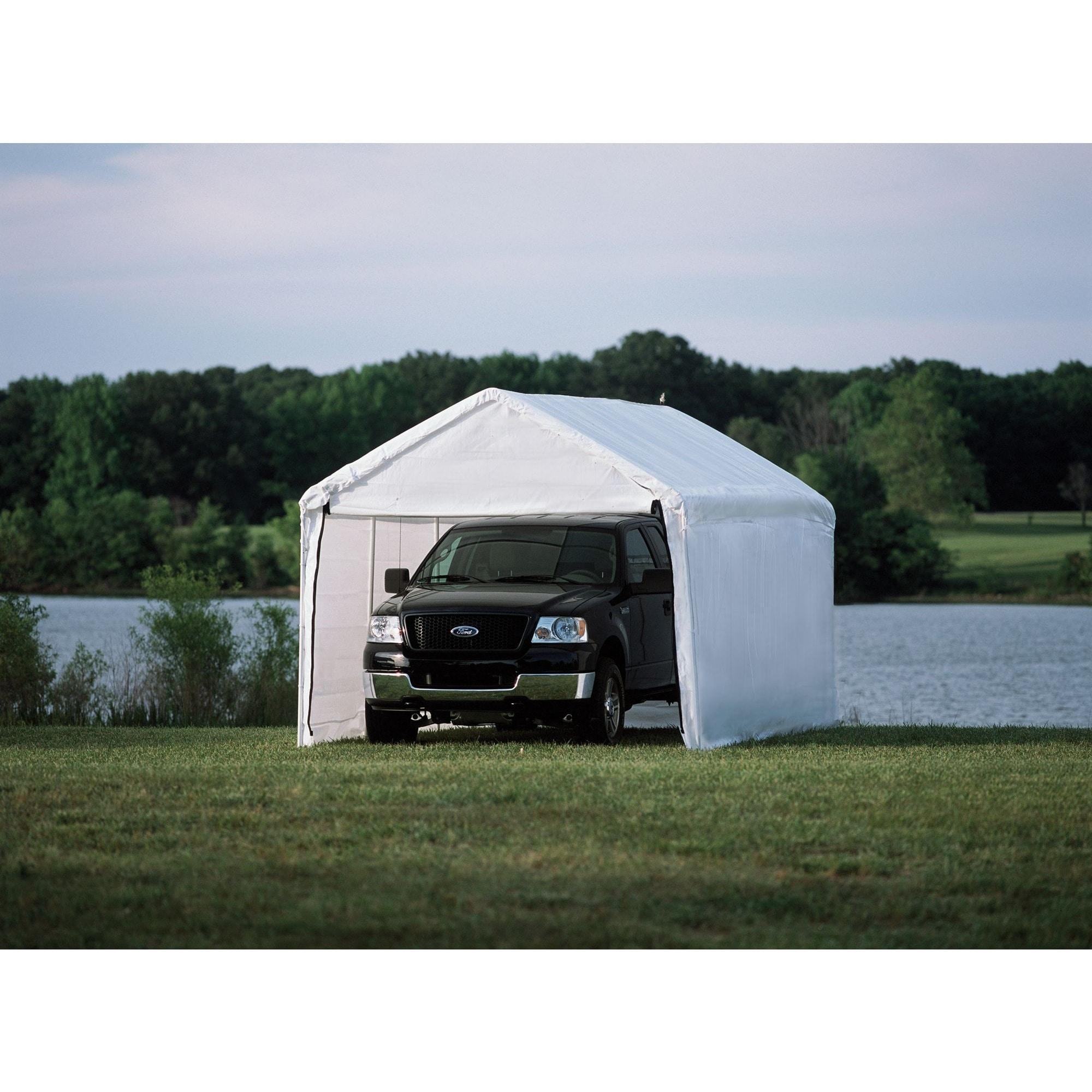 ShelterLogic Max AP 10 x 20ft. White Sidewalls and Doors ...