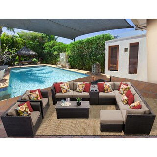 Barbados 12 Piece Outdoor Wicker Patio Furniture Set 12b