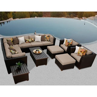 Barbados 12 Piece Outdoor Wicker Patio Furniture Set 12c