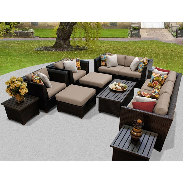 Barbados Piece Outdoor Wicker Patio Furniture Set D Free - Wicker patio furniture sets