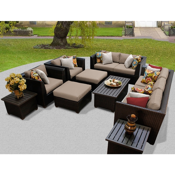 Shop Barbados 12 Piece Outdoor Wicker Patio Furniture Set 12d Free