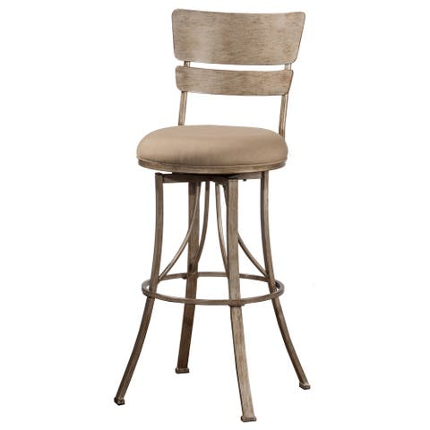 Hillsdale Furniture Wakefield Champagne Indoor/Outdoor Swivel Counter Stool