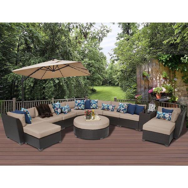 Barbados 11 Piece Outdoor Wicker Patio Furniture Set 11c